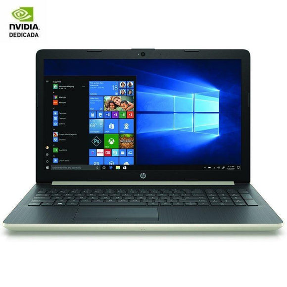 PORTÁTIL HP 15-DA1076NS - I7-8565U 1.8GHZ - 8GB - 1TB - GEFORCE MX130 4GB - 15.6'/39.6CM HD - HDMI - BT - NO ODD - W10 - ORO PÁLIDO - JSVnet
