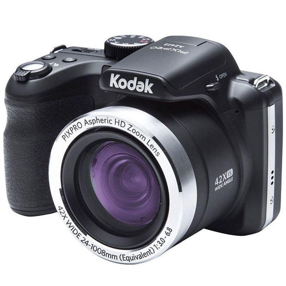 CÁMARA DIGITAL KODAK PIXPRO AZ422 NEGRA - 20MPX - LCD 3'/7.62CM - ZOOM 42X OPT - ANGULAR 24MM - VÍDEO HD - USB - BATERÍA LITIO - JSVnet