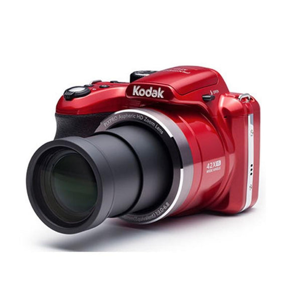 CÁMARA DIGITAL KODAK PIXPRO AZ422 ROJA - 20MPX - LCD 3'/7.62CM - ZOOM 42X OPT - ANGULAR 24MM - VÍDEO HD - USB - BATERÍA LITIO - JSVnet