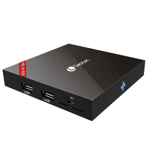ANDROID TV BOX LEOTEC SHOW 4K LETVBOX07 - QC 2GHZ - 8GB - 1GB RAM - HDMI - LAN - WIFI - MICRO SD - ANDROID 7.1.2 - MANDO A DISTANCIA - JSVnet