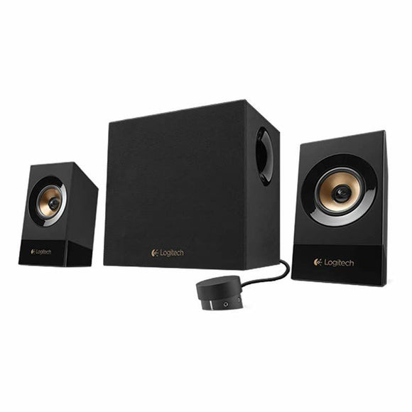 ALTAVOCES 2.1 LOGITECH Z533 - 60W RMS (SATELITES 2*15W + SUBWOOFER 30W) - ENTRADA 3.5MM - ENTRADA RCA - TOMA AURICULARES - JSVnet