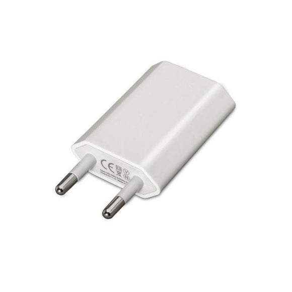 CARGADOR DE PARED NANOCABLE 10.10.2001 - 1XUSB - 5V / 1A / 5W (MAX) - COMPATIBLE IPOD / IPHONE - BLANCO - JSVnet