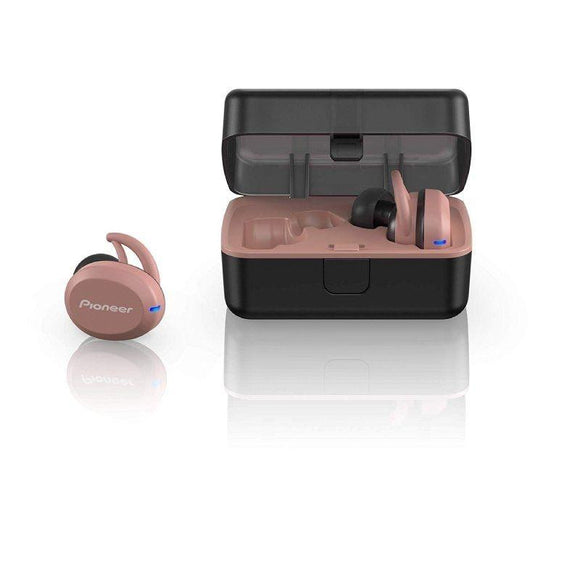 AURICULARES BLUETOOTH PIONEER IN-EAR TRULY WIRELESS SPORT SE-E8TW-P  - BT 4.2 - IPX5 - ESTUCHE DE CARGA - APP PIONEER PARA ANDROID - COLOR ROSA - JSVnet