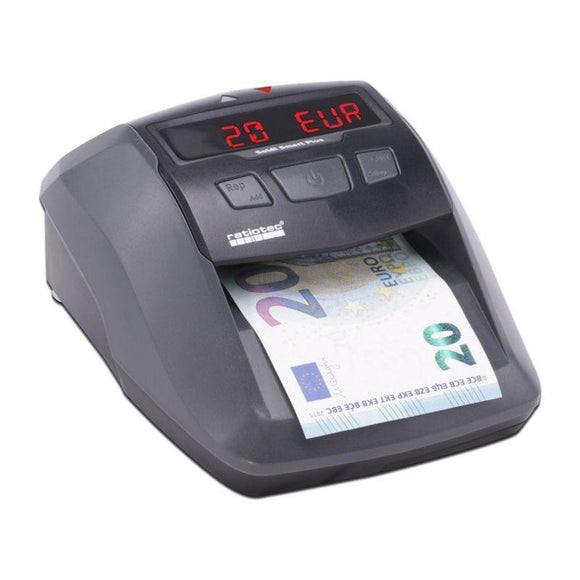DETECTOR DE BILLETES RATIO-TEC SOLDI SMART PLUS -- PARA EUROS/LIBRAS/CHF - DETECCIÓN IR | MG | BM | SD - DISPLAY LED Y SEÑAL ACÚSTICA - ACTUALIZABLE - JSVnet
