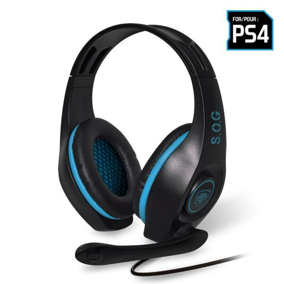 AURICULARES CON MICRÓFONO PARA PS4 SPIRIT OF GAMER PRO-SH5 - DRIVERS 40MM - CONECTOR JACK 3.5MM - CABLE 2.1M - JSVnet