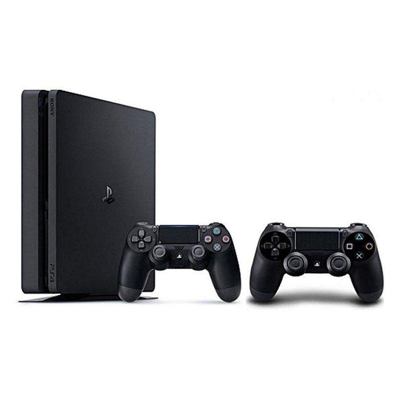 CONSOLA SONY PLAYSTATION 4 SLIM 500GB BLACK - 2 MANDOS INALÁMBRICOS DUALSHOCK 4 - JSVnet