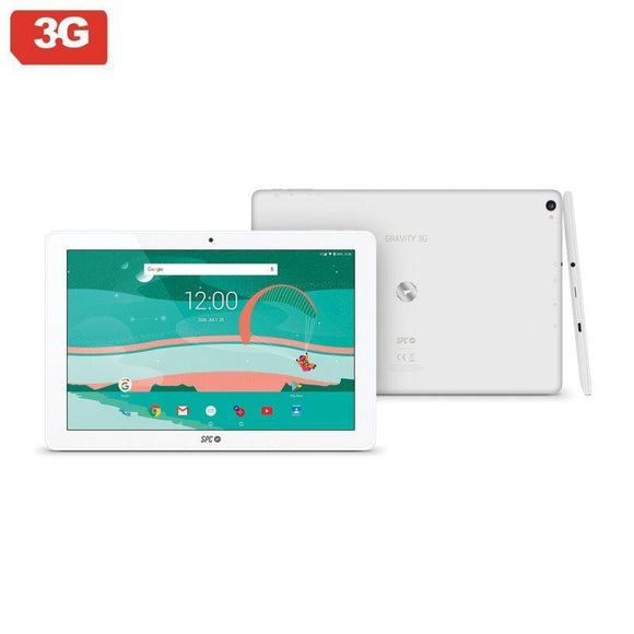 TABLET CON 3G SPC GRAVITY 10.1  BLANCA - QC A7 1.3GHZ - 1GB DDR3 - 16GB - 10.1'/25.65CM IPS HD - CAM 5MPX/2 - BT - MICRO SD - BAT 5800MAH - ANDROID 7 - JSVnet