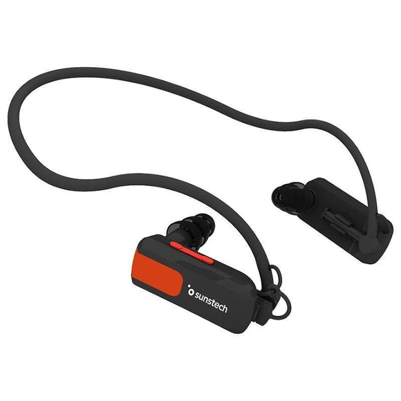 REPRODUCTOR MP3 SUNSTECH TRITÓN BLACK 4GB - WATERPROOF SUMERGIBLE HASTA 3 METROS - BAT 180MAH - DISEÑO ERGONÓMICO - JSVnet