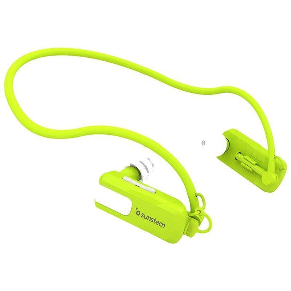 REPRODUCTOR MP3 SUNSTECH TRITÓN GREEN 8GB - WATERPROOF SUMERGIBLE HASTA 3 METROS - BAT 180MAH - DISEÑO ERGONÓMICO - JSVnet