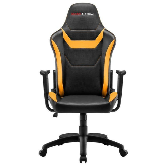 SILLA GAMER MARS GAMING MGC218BY AMARILLA - TECNOLOGÍA AIR - DOBLE CAPA ACOLCHADO - RESPALDO RECLINABLE 180º - HASTA 150 KG - JSVnet