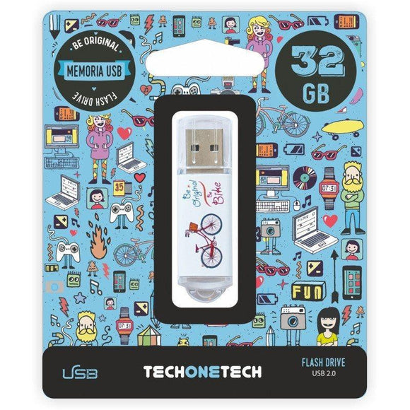 PENDRIVE TECH ONE TECH BE BIKE 32GB USB 2.0 - JSVnet