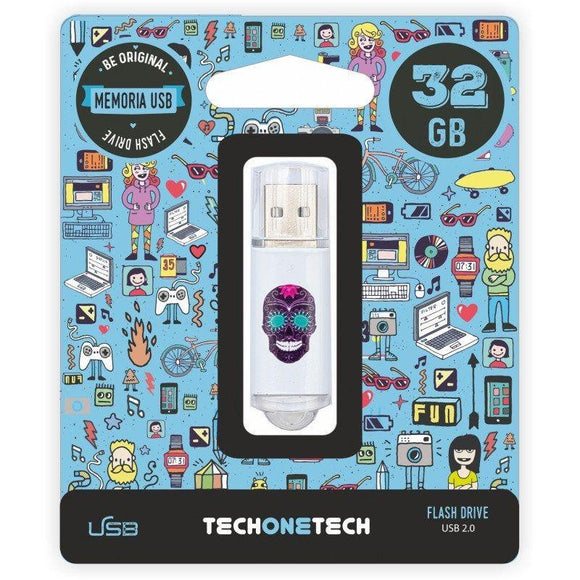 PENDRIVE TECH ONE TECH CALAVERA MAYA 32GB USB 2.0 - JSVnet