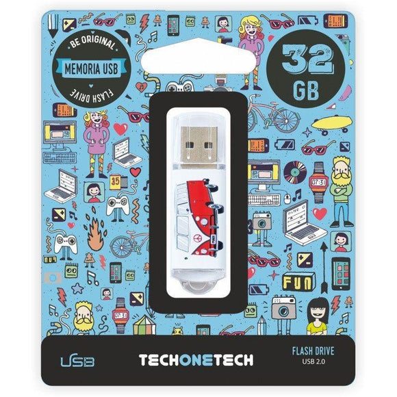 PENDRIVE TECH ONE TECH CAMPER VAN-VAN 32GB USB 2.0 - JSVnet