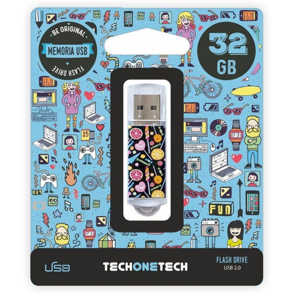 PENDRIVE TECH ONE TECH CANDY POP 32GB USB 2.0 - JSVnet