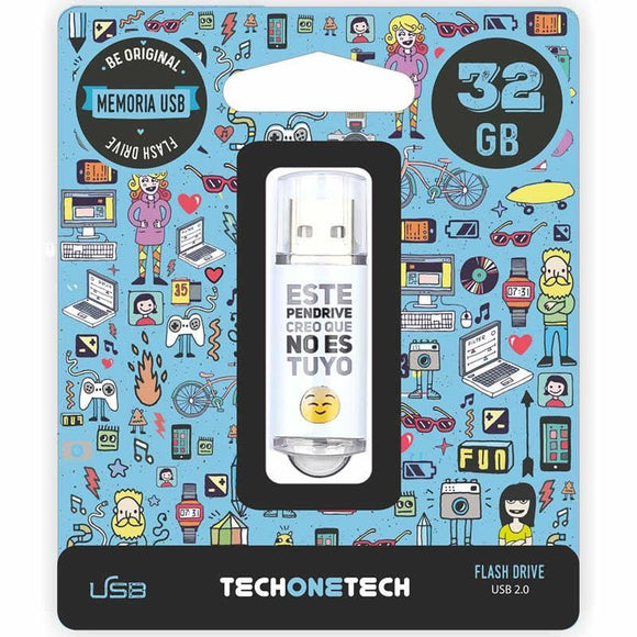 PENDRIVE TECH ONE TECH NOESTUYO 32GB USB 2.0 - JSVnet