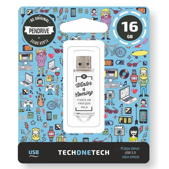 PENDRIVE TECH ONE TECH WINTER IS COMING 16GB USB 2.0 - JSVnet
