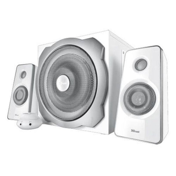 ALTAVOCES TRUST TYTAN 2.1 SPEAKER SET 60W RMS CONTROL VOLUMEN JACK 3.5MM BLANCO - JSVnet