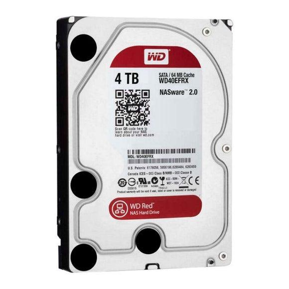 DISCO DURO INTERNO WESTERN DIGITAL NAS RED - 4TB - SATA III - 3.5'/ 8.89CM - 64MB - JSVnet