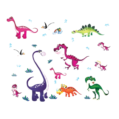 Stickers Dinosaure <br> Ensemble Dino Mignons