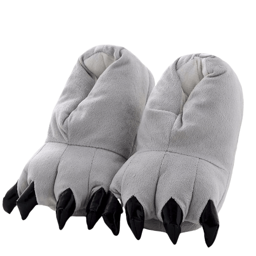 Chausson Dinosaure <br> Gris