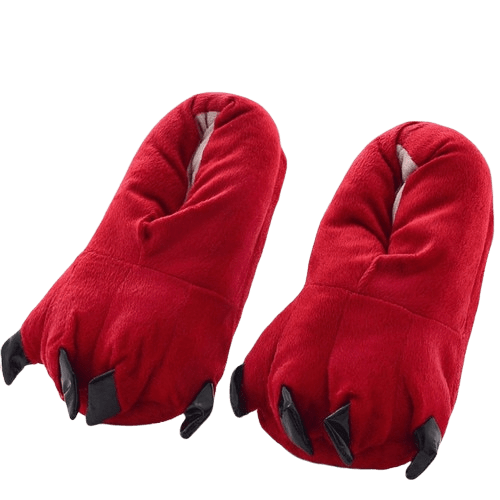 Chausson Dinosaure <br> Rouge