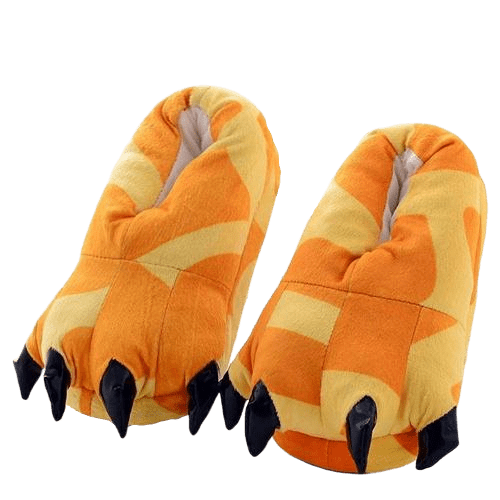 Chausson Dinosaure <br> Orange