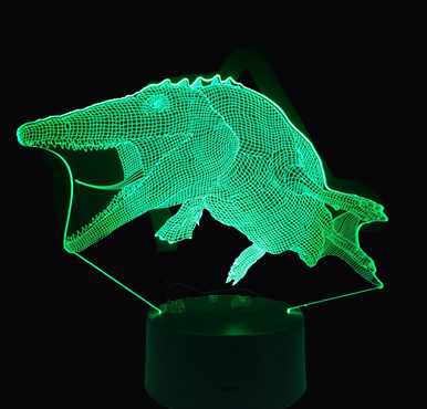 Lampe Dinosaure 3D <br> Mosasaure