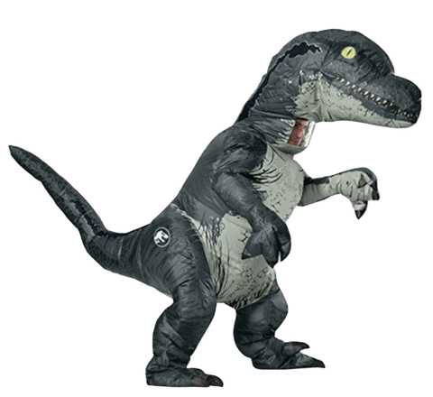 Déguisement Dinosaure Gonflable Adulte Vélociraptor | Dino Store