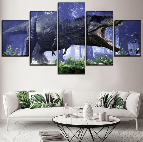 tableau-dinosaure-tyrannosaure-chasseur