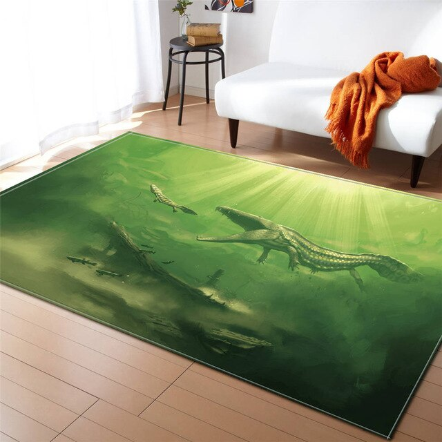 Tapis Dinosaure <br> Mosasaure