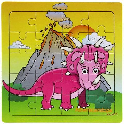 puzzle-dinosaure-tricératops-rose