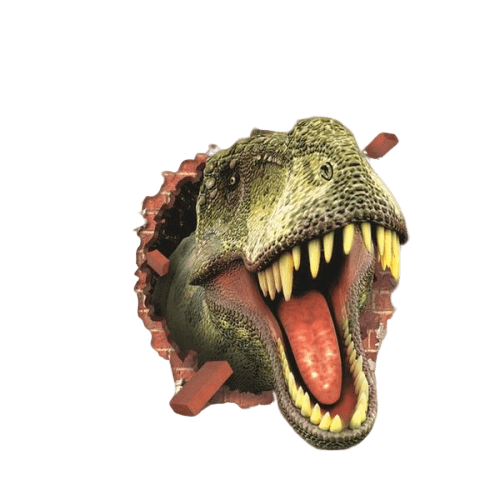 Stickers Dinosaure <br> Tyrannosaure 3D