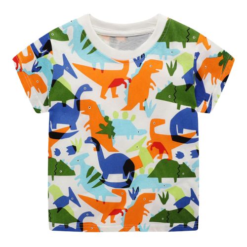 T-shirt Dinosaure Enfant Dinosaure Multicolore | Dino Store