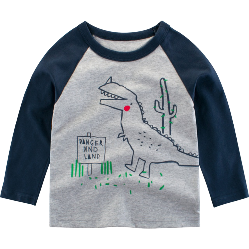 T-shirt Dinosaure Enfant Manches Longues Dino Land | Dino Store