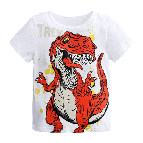 T-shirt Dinosaure Enfant Tyrannosaure Furieux Blanc | Dino Store