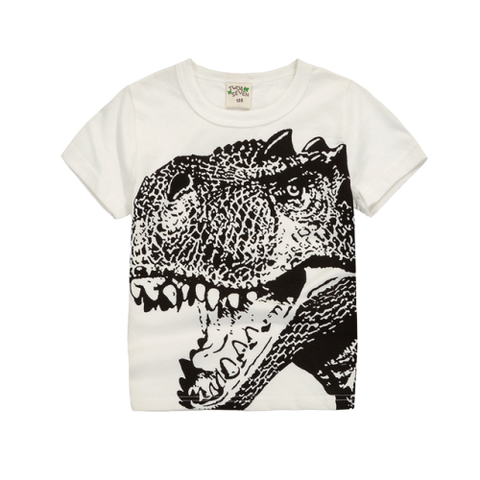 T-shirt Dinosaure Enfant Tyrannosaure Tête Blanche | Dino Store