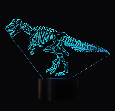 Lampe Dinosaure 3D <br> Tyrannosaure Fossile