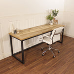 Reclaimed Wood Desk Industrial Table Rustic Wooden Executive Office Corner Desk L shaped PC Storage Unit Steel Farmhouse Display Chunky