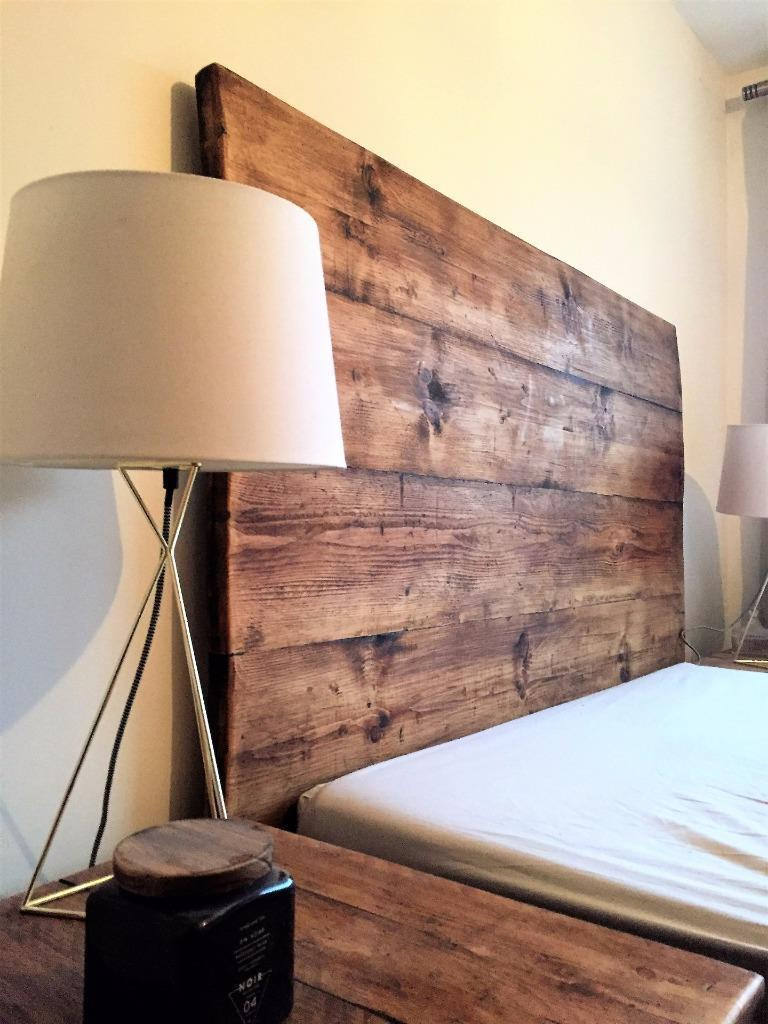 Wooden Headboard Reclaimed Rustic Bed Bedroom Double King Queen Single Shabby Bear Cottage