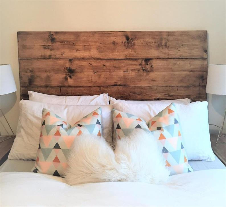 Wooden Headboard Bed Scandi Scandinavian King Queen Double Single Matress Bedroom