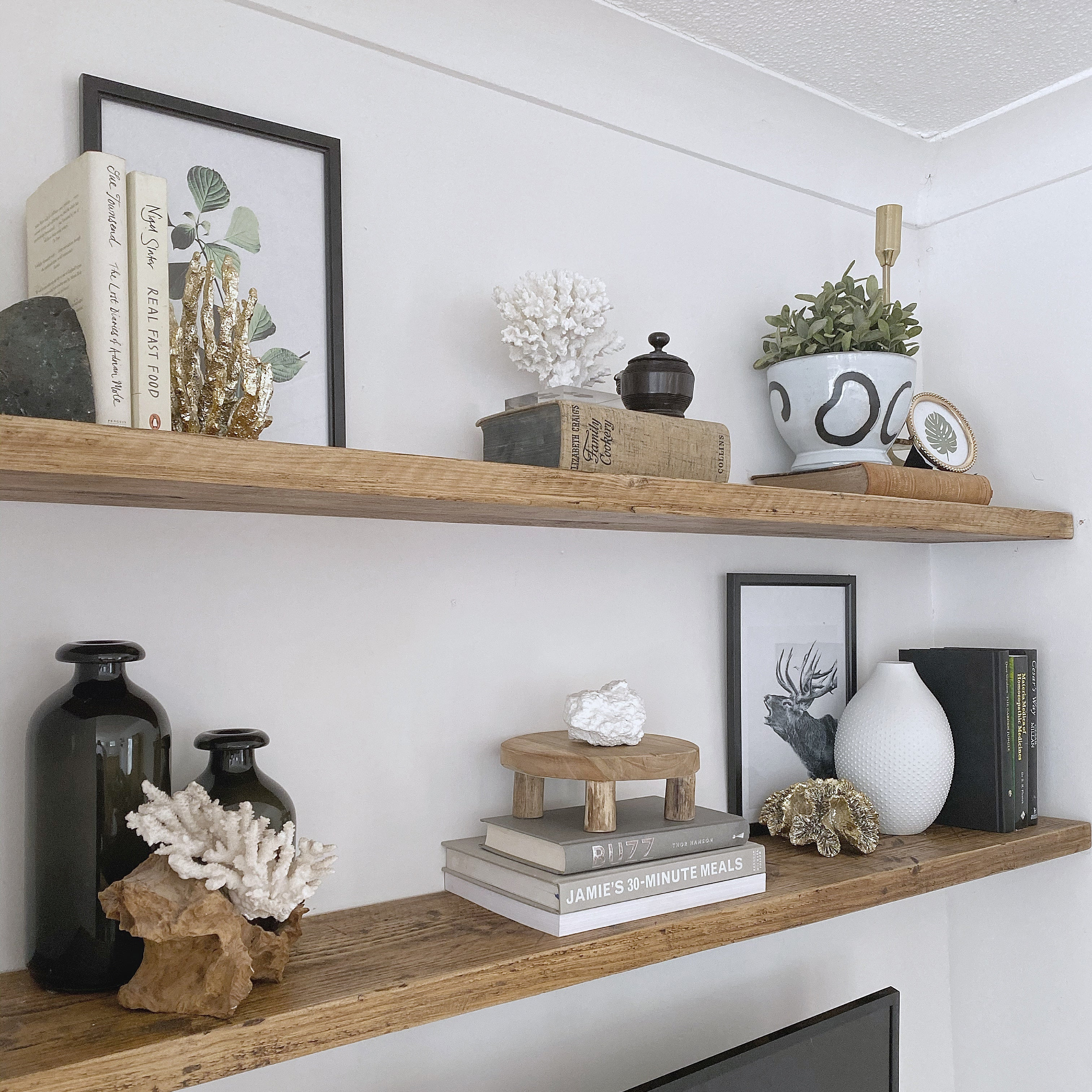 Picture of: Wooden Floating Shelf Wood Reclaimed Rustic Pine Chunky Industrial Oak Shabby Bear Cottage