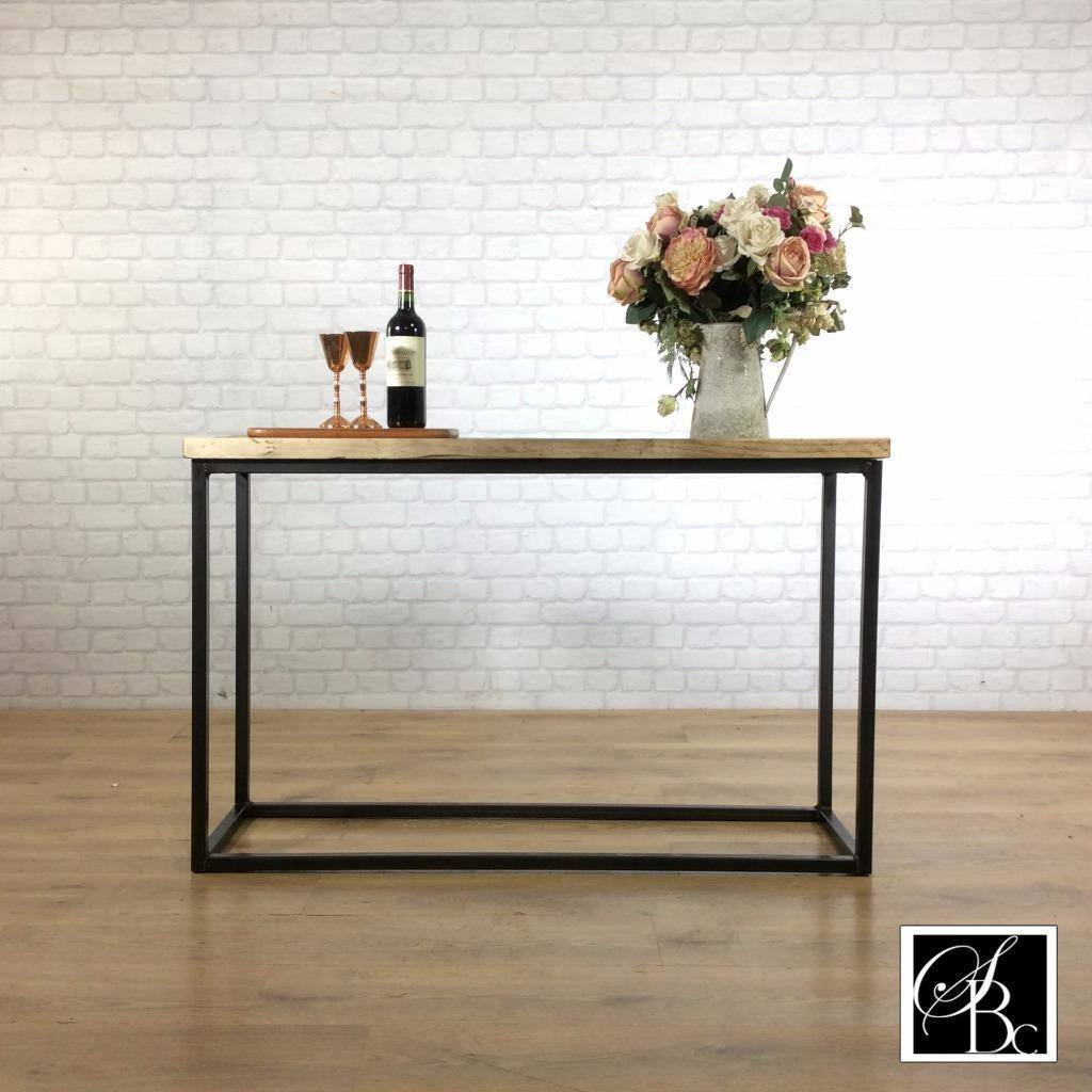Hall_table_console_entryway_Industrial_reclaimed_metal_wood