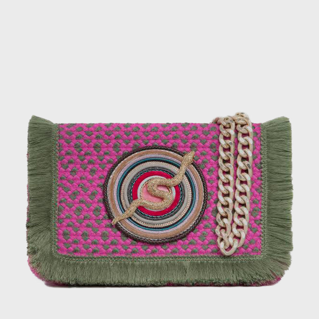 Bolso Lucina Large Rosa y Verde
