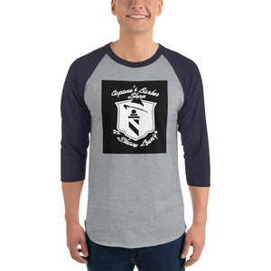 3/4 sleeve raglan shirt - Capone's Barber Shop & Shave Lounge