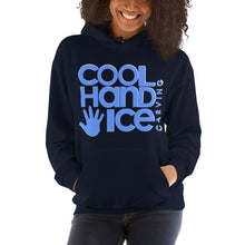 Load image into Gallery viewer, Unisex Hoodie - Cool Hand Ice // solid blue