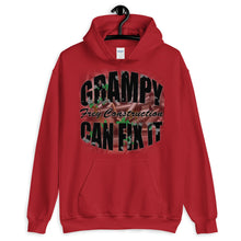 Load image into Gallery viewer, Unisex Hoodie - Grampy Can Fix It - black letters