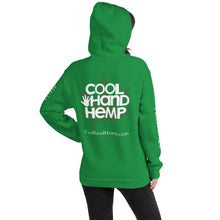 Load image into Gallery viewer, Unisex Hoodie - CoolHandHemp.com - MultiColor - All 4 Logos areas