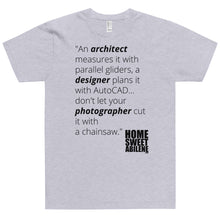 Load image into Gallery viewer, T-Shirt - Photographers with Chainsaws Blk