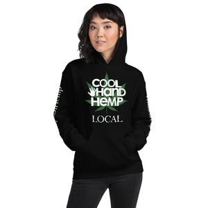 Unisex Hoodie - CoolHandHemp.com - MultiColor - All 4 Logos areas