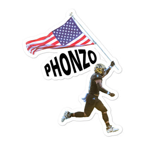"Bubble-free stickers - Phonzo Dotson Flag ""Phonso"""